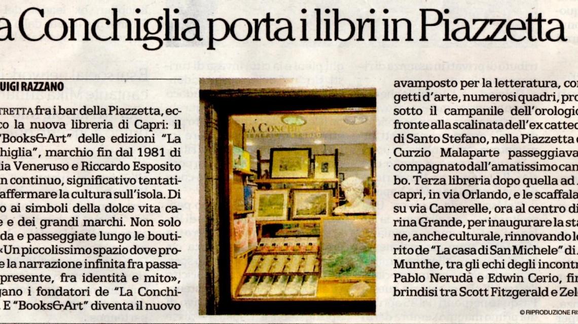 Articolo tratto da Repubblica Napoli su apertura Conchiglia in via Acquaviva