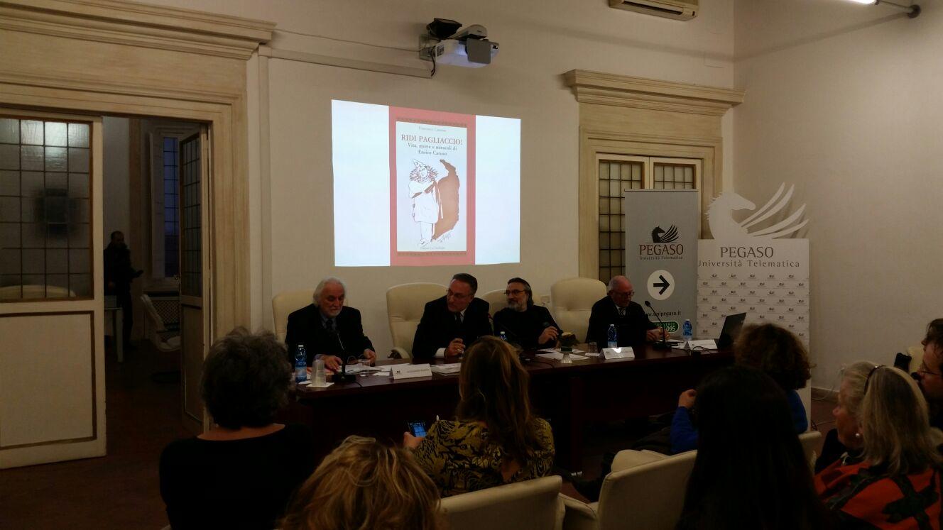 """Presentazione a Roma di """"Ridi Pagliaccio! Vita, morte e miracoli di Enrico Caruso"""" di Francesco Canessa - Edizioni La Conchiglia Capri."""