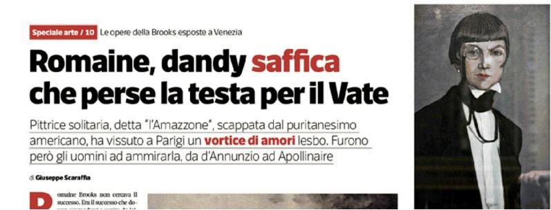 Scaraffia su Sette per Romaine Brooks, Tra Saffo e d'Annunzio.