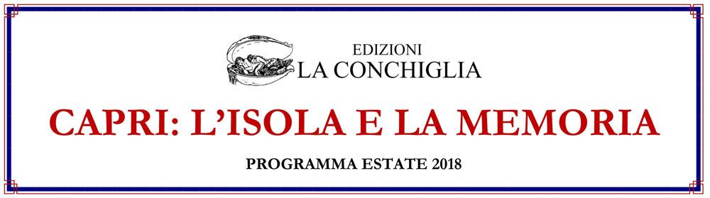 Banner per programma La Conchiglia 2018