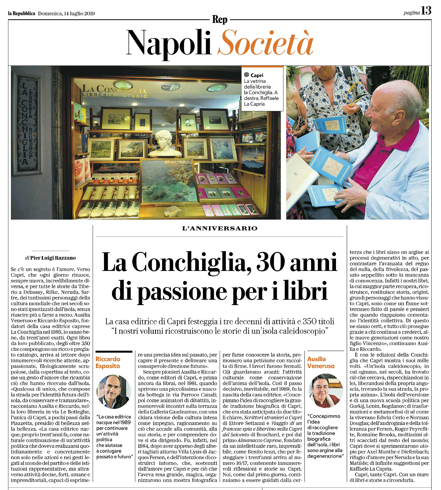 articolo Razzano Repubblica Napoli 14.07