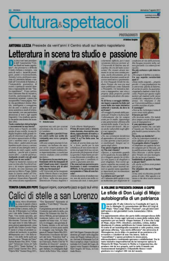 articolo IlRoma 2 presentazione Di Majo