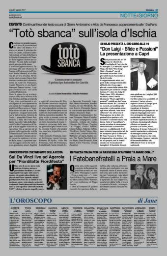 articolo IlRoma presentazione Di Majo