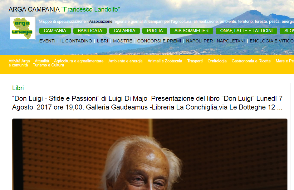 articolo argacampania presentazione Di Majo