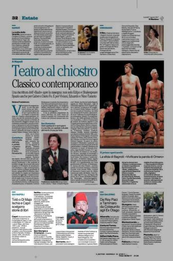 articolo il mattino di Napoli presentazione Di Majo