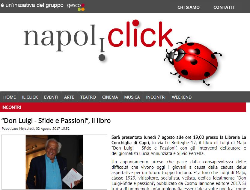 articolo napoliclick.it presentazione Di Majo