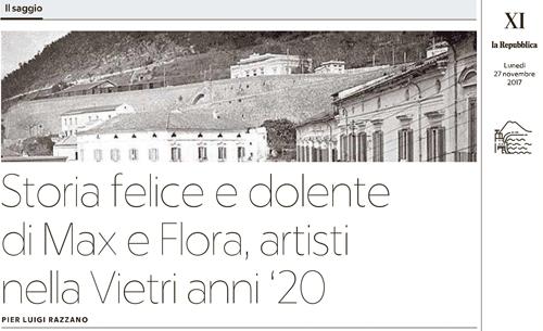 banner per articolo Pier Luigi Razzano su La ceramica sugli scogli per La Repubblica Napoli