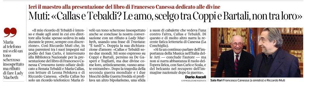 Recensione di Dario Ascoli su Il corriere del Mezzogiorno per C'eravamo tanto odiate di Francesco Canessa