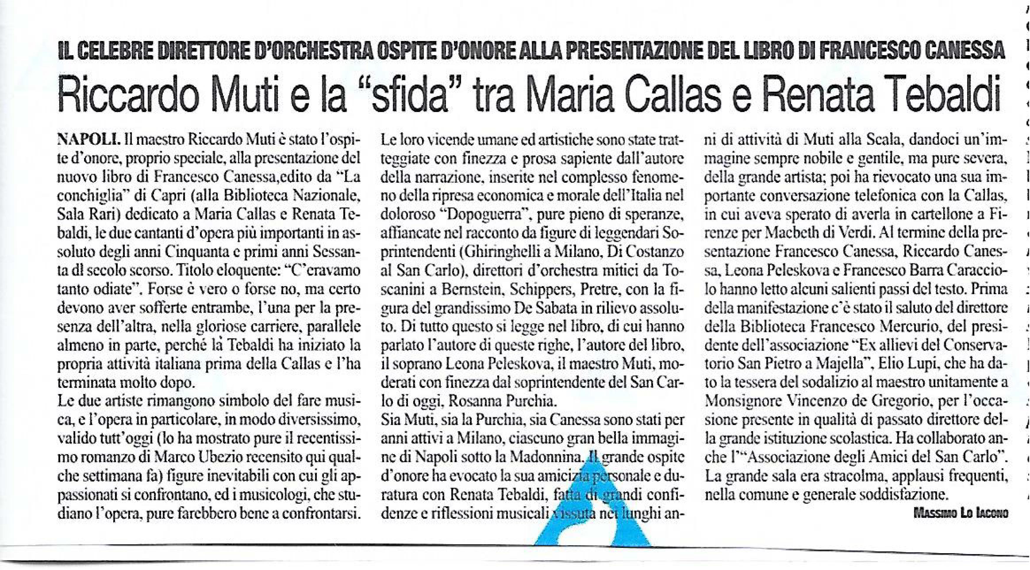 Recensione di Massimo Lo Iacono su Il Roma per C'eravamo tanto odiate di Francesco Canessa